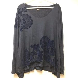 Desigual Navy Blue Layered Blouse